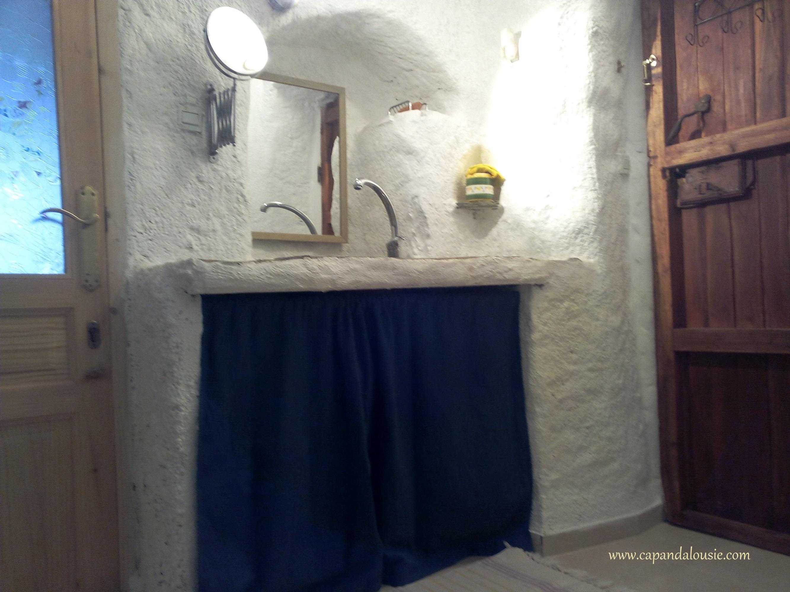 salle de bain du gîte en Andalousie