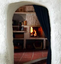 gite en espagne : la cheminée