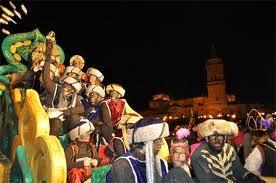 noël en Espagne, les rois mages, los reyes magos en guadix, cavalcade,Gaspard, Melchior,Balthazar