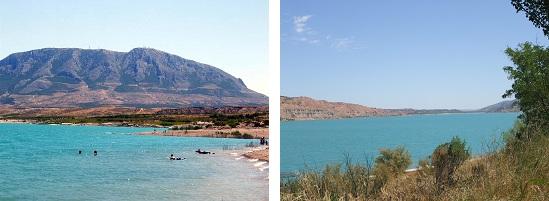 Lac Negratin, Freila, coin reculé Andalousie, proche Guadix, baignade sauvage, activités nautique, enfants