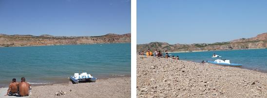 plage isolée,activités nautiques,pedalo,proche de guadix,baignade,peu de monde