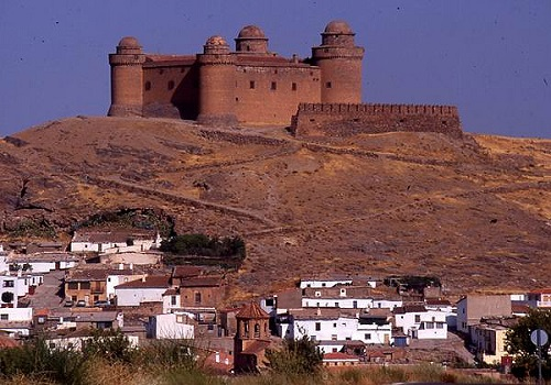 Chateau de La Calahorra proche de Guadix, Province de Grenade, Andalousie, El Castillo de La Calahorra