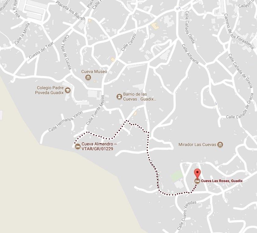 almendro Las rosas guadix distance plan situation géographique 1 2 3 4 5 personnes